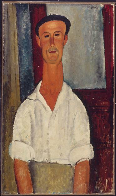 Amedeo Modigliani Gaston Modot 1918 Olio su tela montata su legno