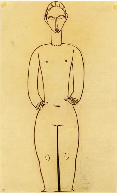 Amedeo Modigliani Hermaphrodite 1910 1911 Matita su carta