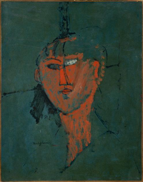 Amedeo Modigliani Testa rossa 1915 Olio su cartone