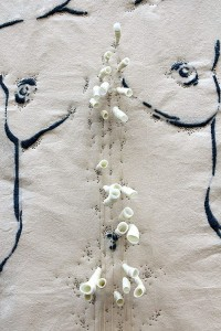 E CORPORE MEDENDO - Beatrice/dettaglio Sindone - ricamo su tela 90x170cm, 2012