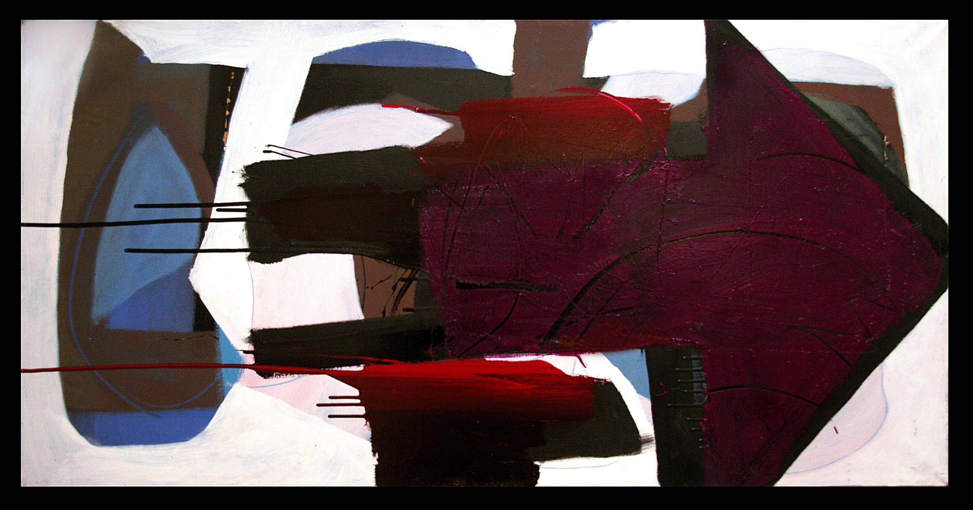 NEGAZIONE DI DIREZIONE N. 7 cm 120 x 60       (SMALTI CARROZZERIA ROSSETTI CIF su TELA)