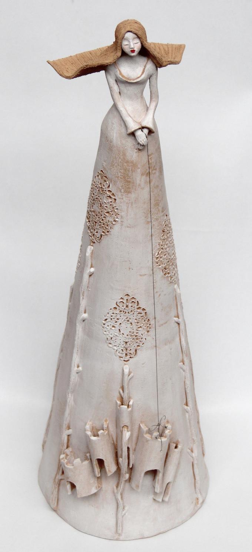 nontiscordardimè #2 terracotta - ferro - pigmenti diam.30 x h. 80 cm novembre 2014