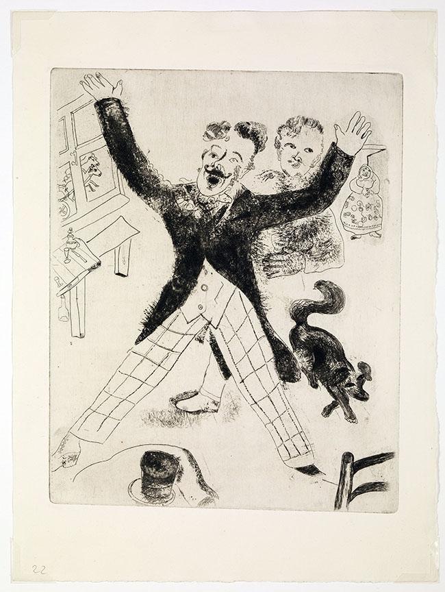 Marc Chagall, Nozdriòv, da Le anime morte, mm 288 x 231