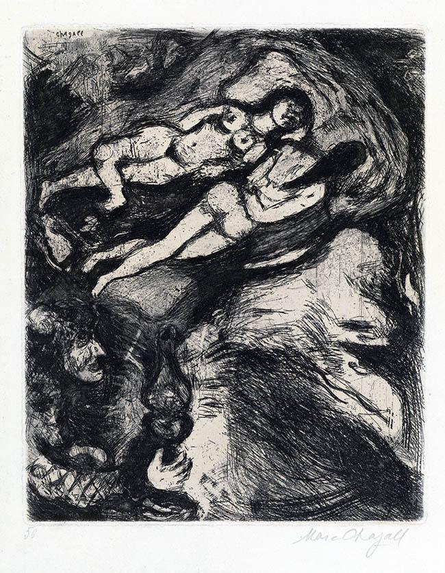 Marc Chagall, La Vecchia e le due Serve, da Le favole, mm 293 x 240