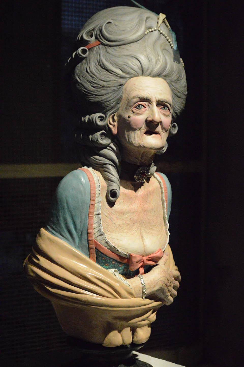 Lucio Fontana, Testa di donna, ceramica policroma, 1950, 18x21x16 cm